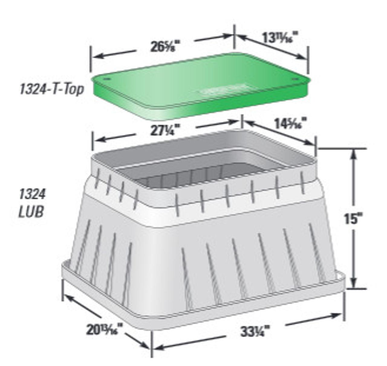 "13""x24""x15"" Large Black Turf Box Assembly"