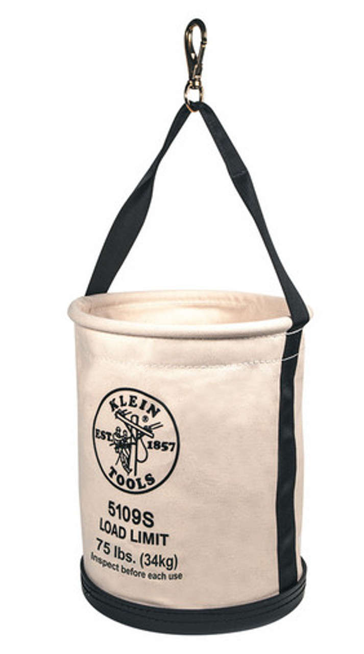 Klein 5109S Load Rated Plastic Bottom Bucket with Swivel Snap