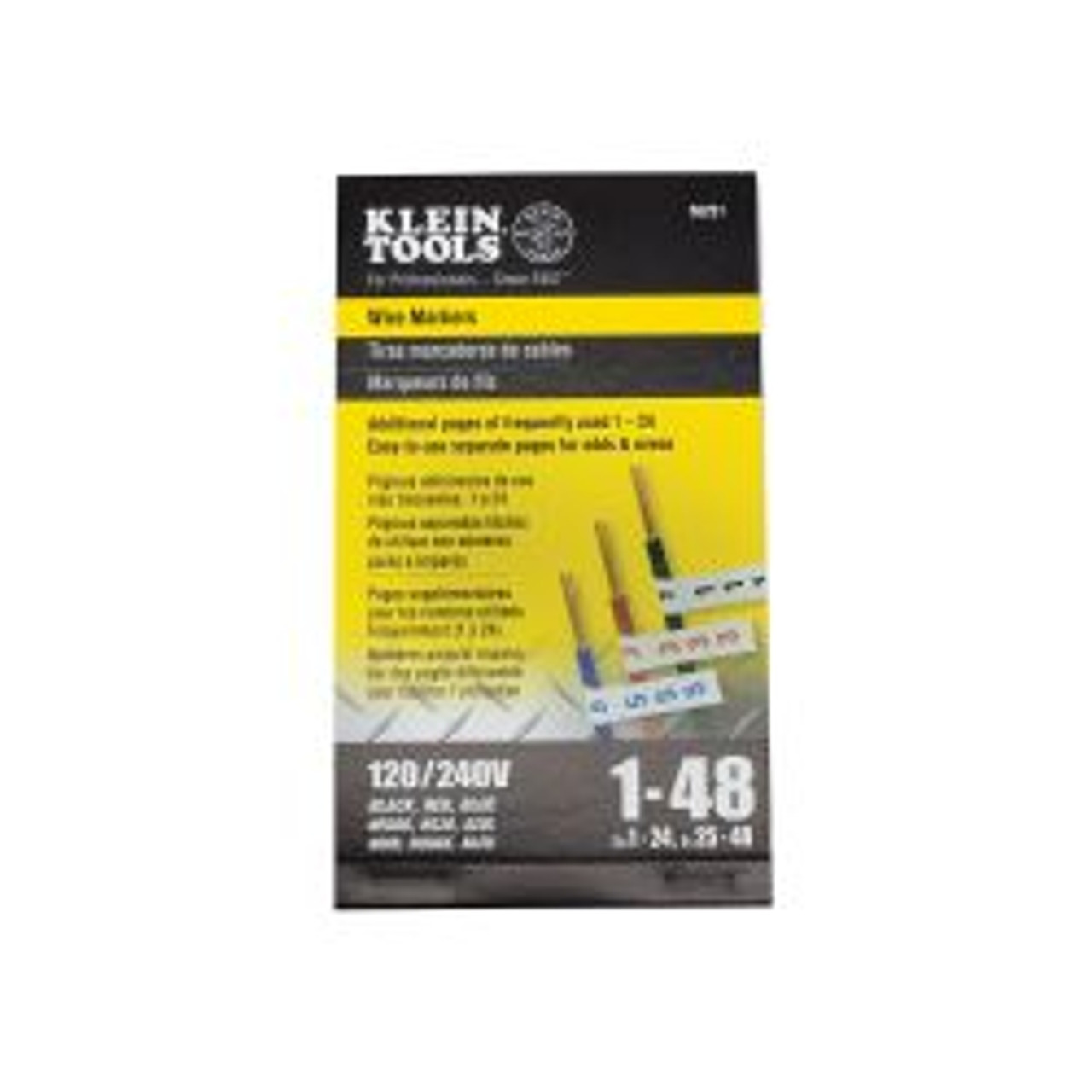 Klein 56251 Wire Markers-120/240V 3 Phase 1-48