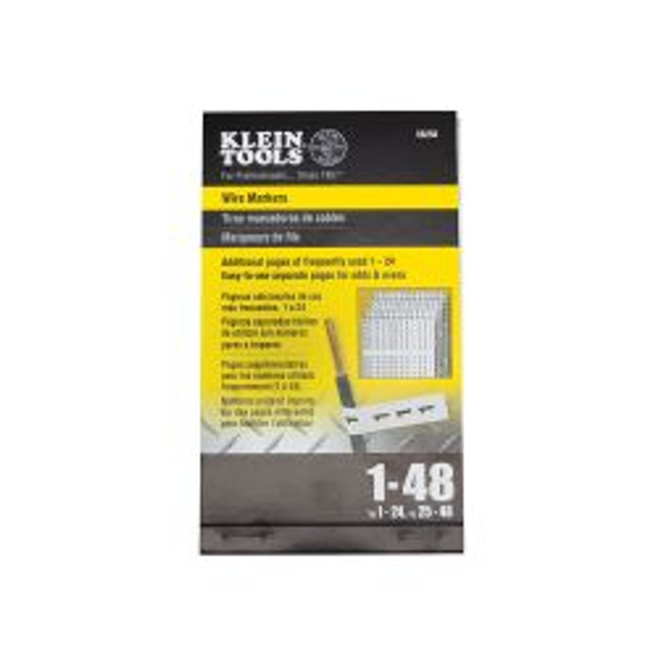 Klein 56250 Wire Markers - Numbers 1-48