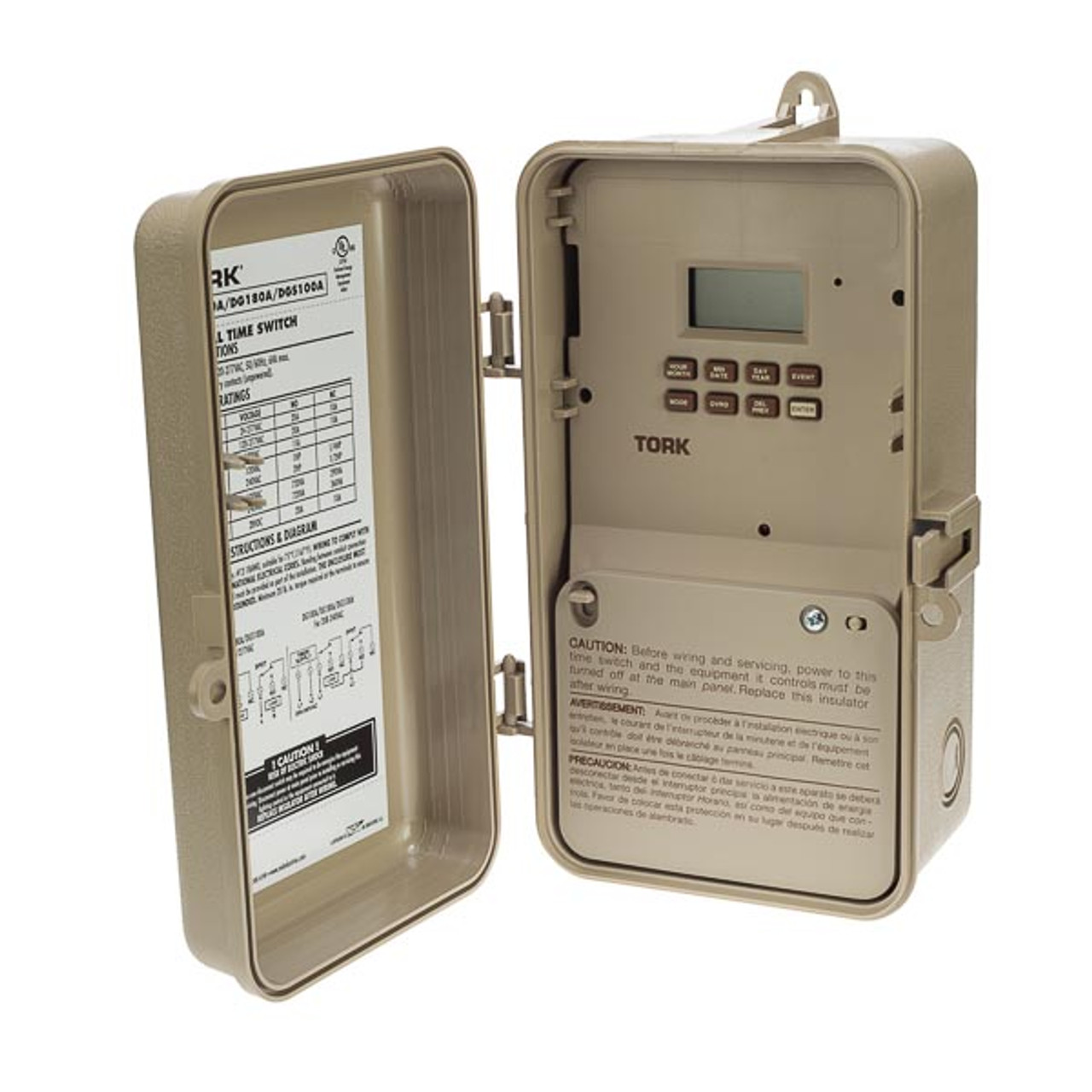 Tork DG200A 7 Day, Digital Holiday 2CH 20A 120-277V Time Switch
