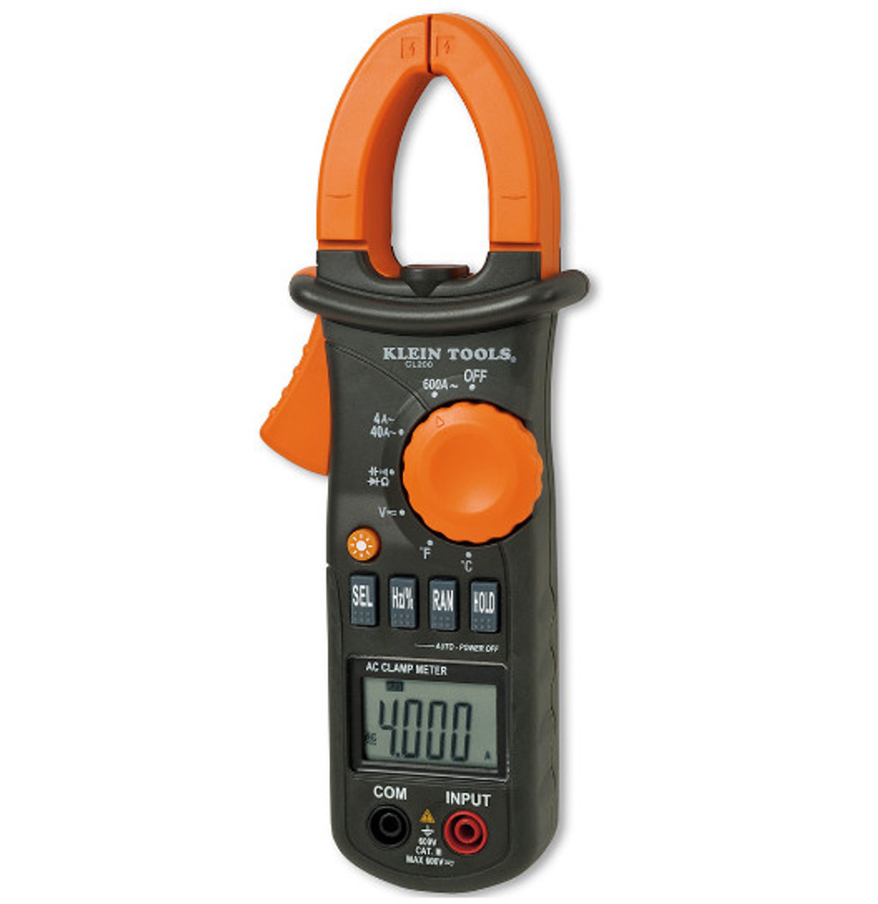 KLEIN CL210 600A AC Clamp Meter with Temperature
