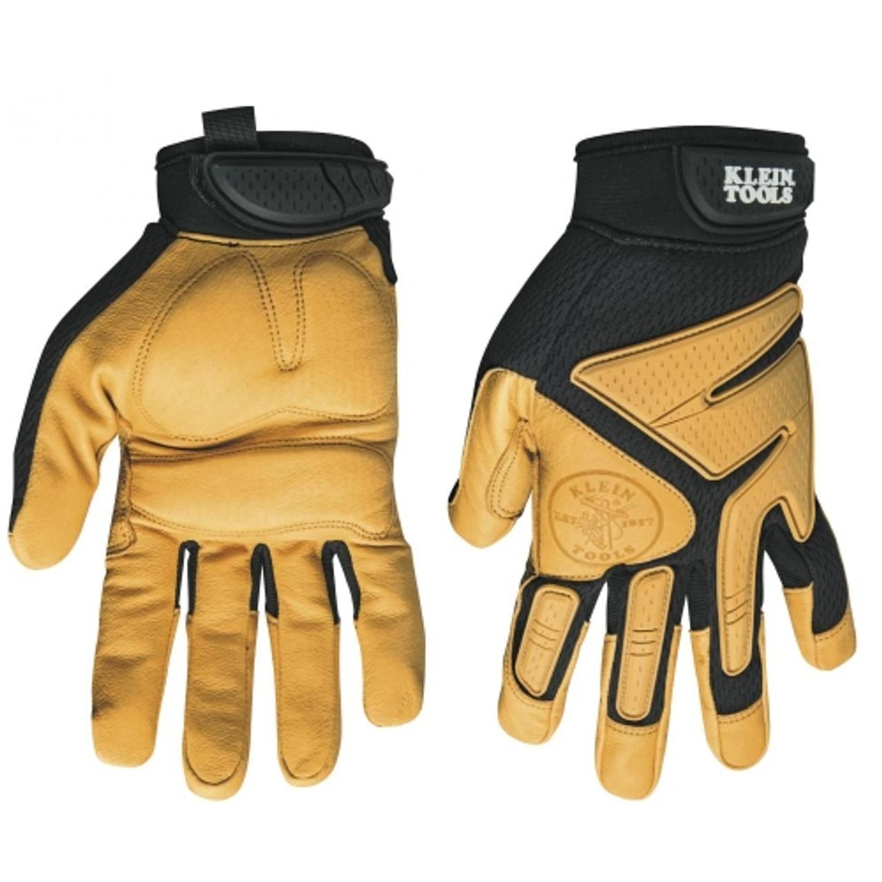 Klein 40220 Journeyman Leather Gloves, Medium