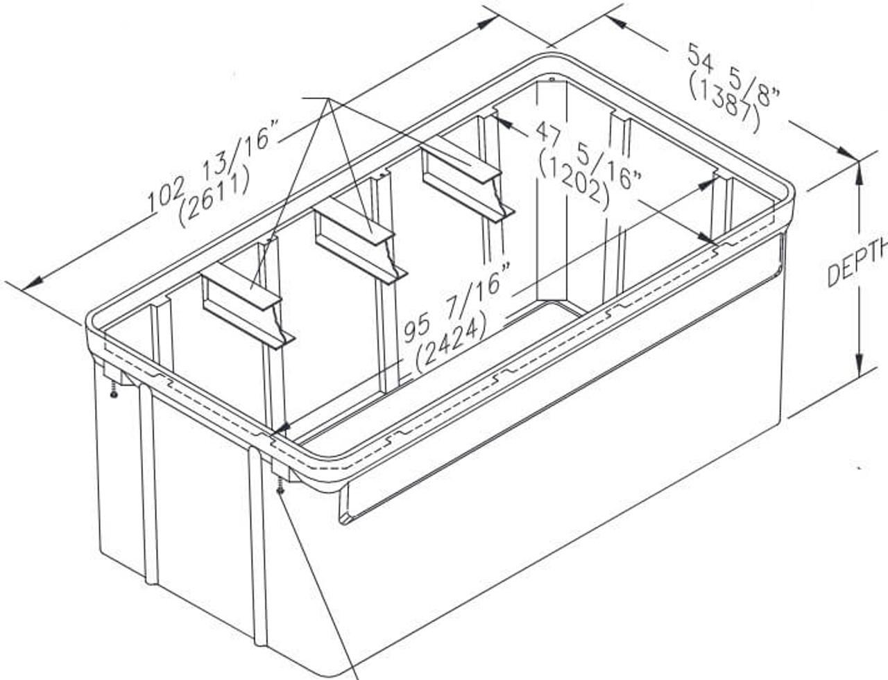PG4896BA Quazite Box 48 x 96 X 48 - Tier 22