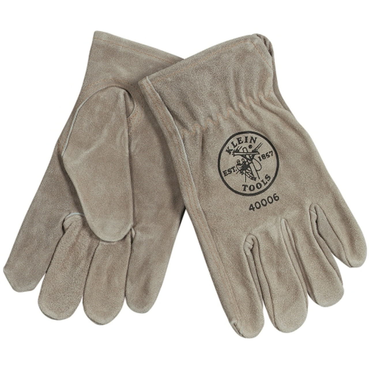 Klein 40006 Cowhide Drivers Gloves Large