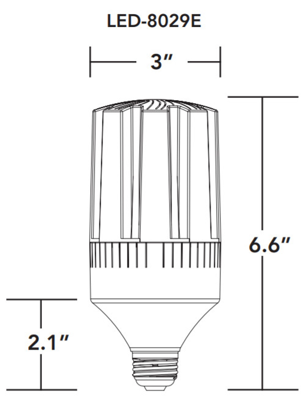 LED-8029E-A 24W, 360° Bollard LED Retrofit