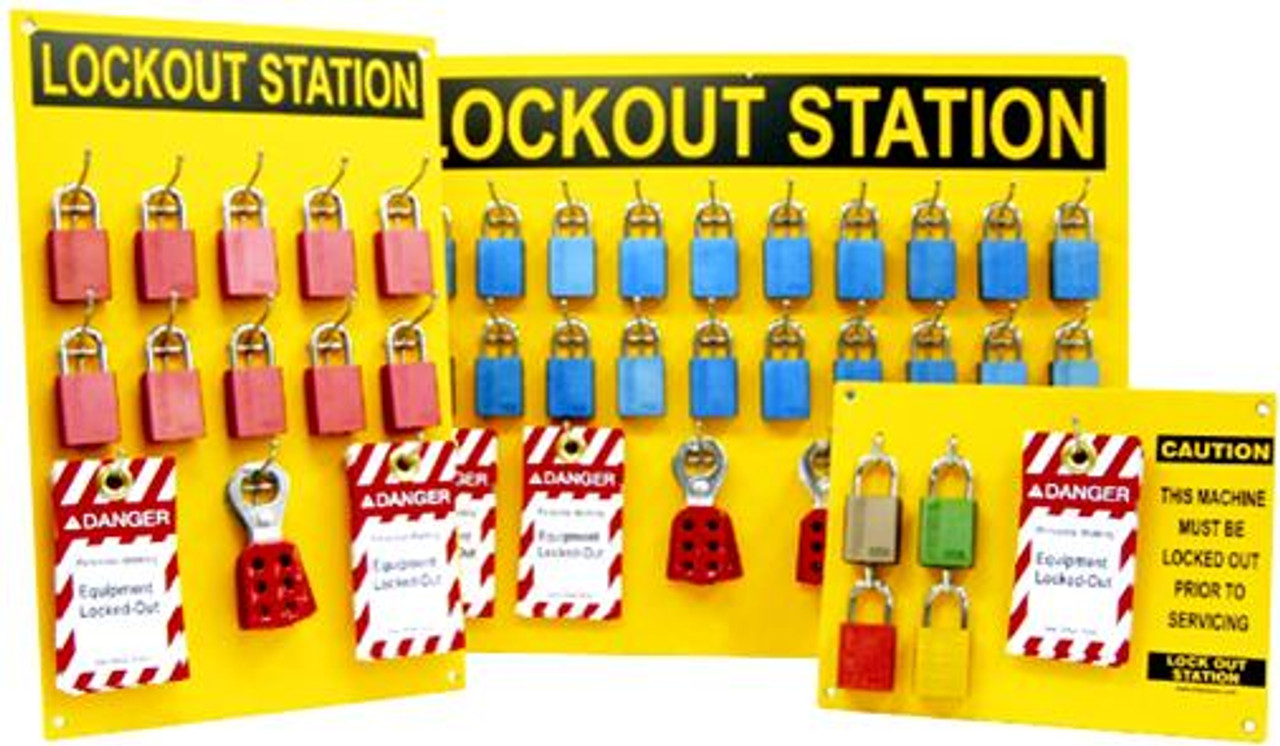 Lockout Stations 4 Locks Empty