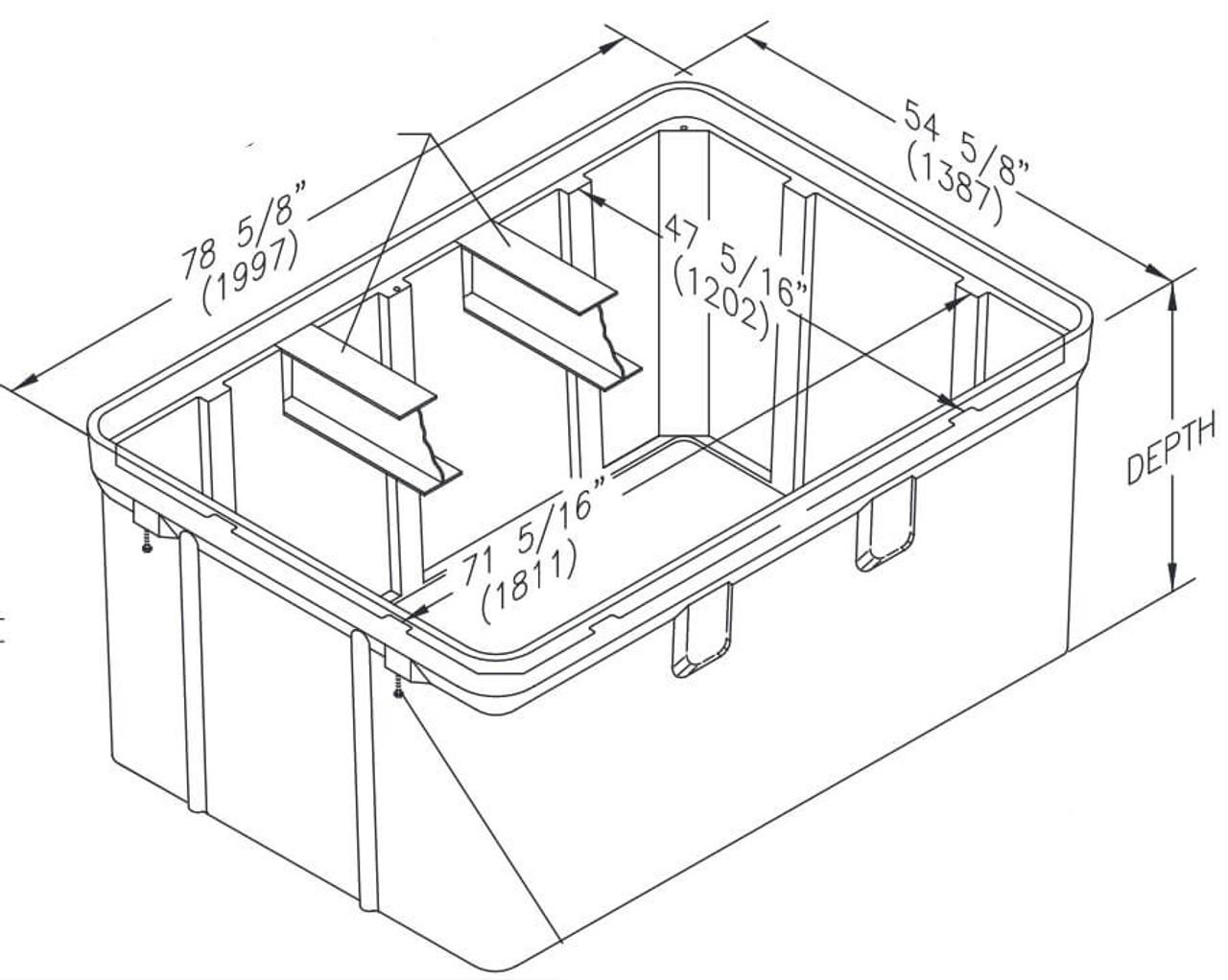 PG4872BA Quazite Box 48 X 72 - ANSI Tier 22