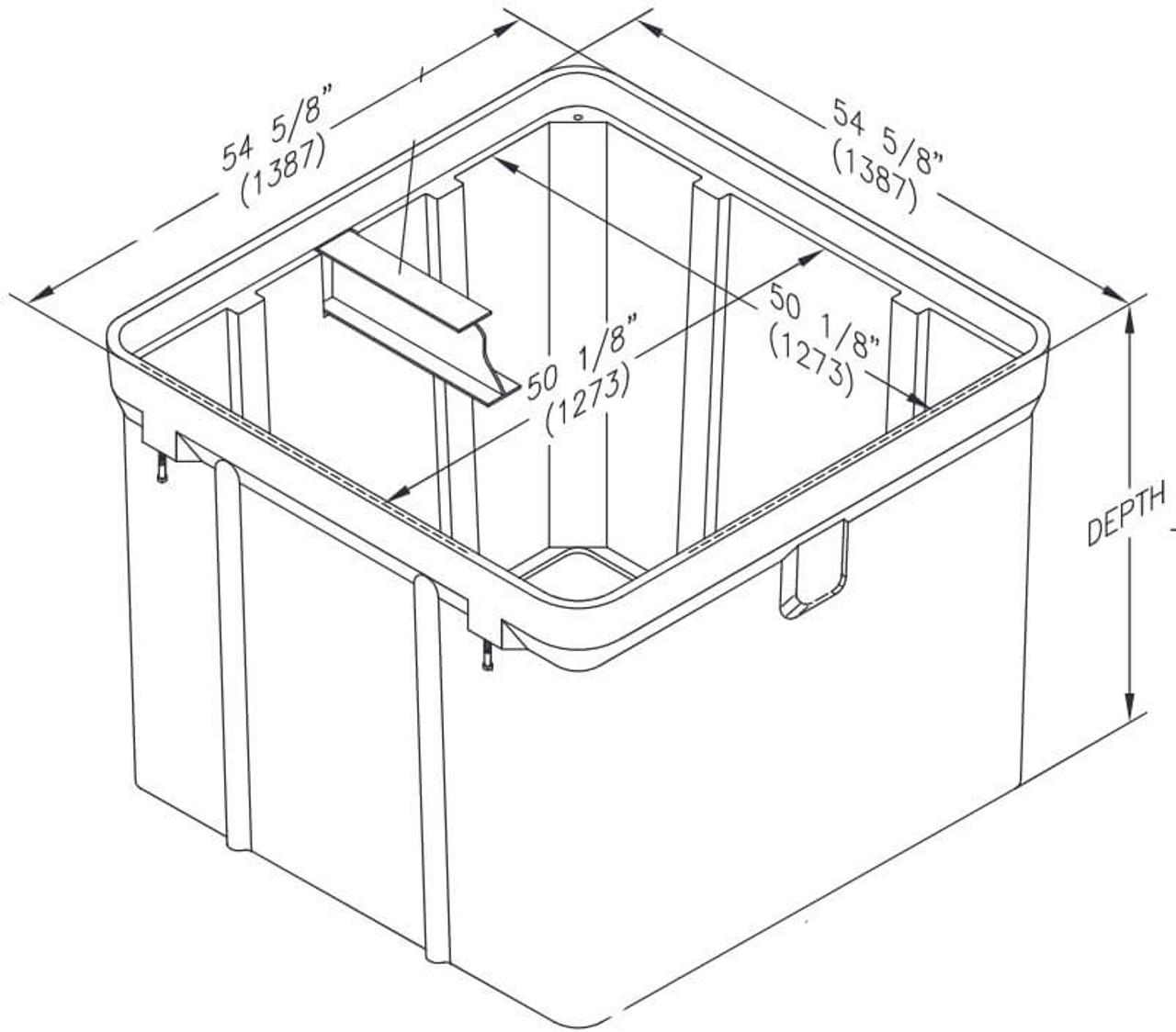 PG4848BA Quazite Box 48 X 48 - ANSI Tier 22