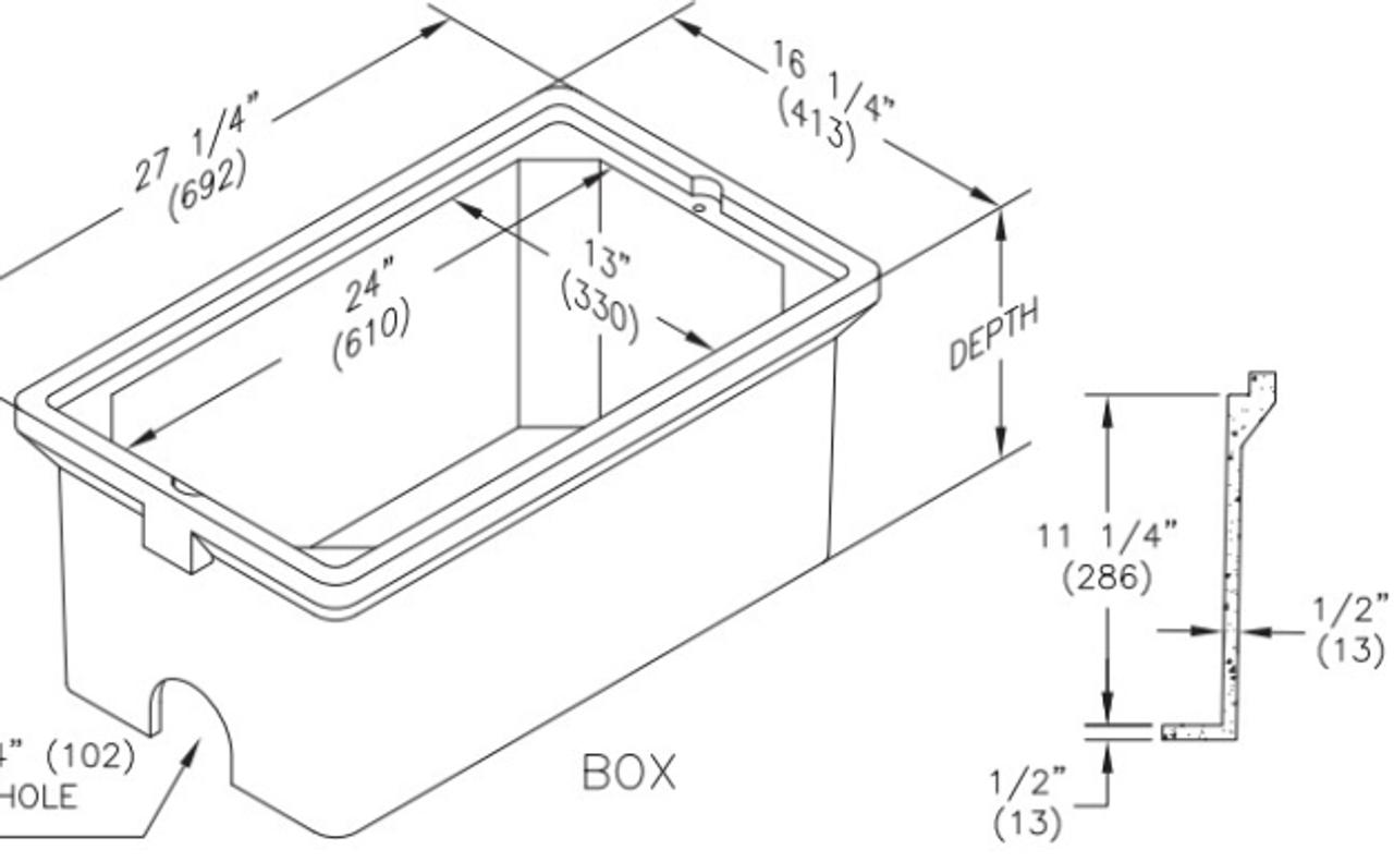 PC1324BA12 Quazite Box 13 X 24 X 12 - ANSI Tier 5