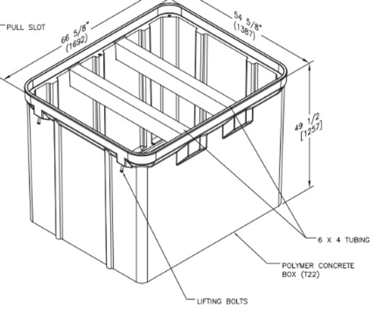 PG4860BA48 - Quazite Box 48 X 60 X 48 - ANSI Tier 22