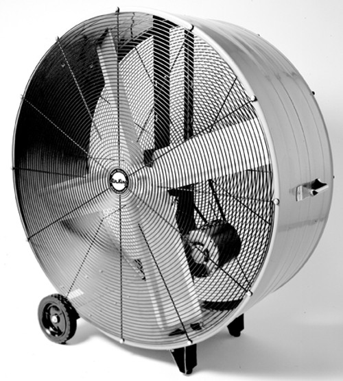 9942 42in Industrial Grade Belt Driven Drum Fan