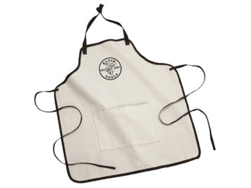 Canvas Apron - Natural w/ Black Klein Tools Lineman's Logo