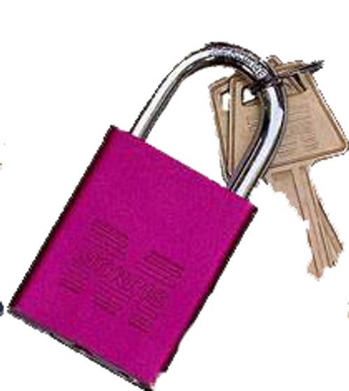 Padlocks Red Keyed Different Accepts Master Key