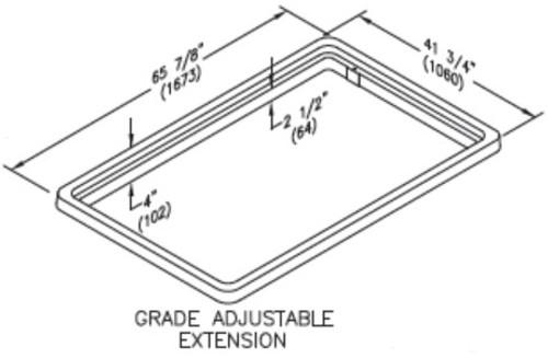 Quazite 36 x 60 Grade Adjustable Extension