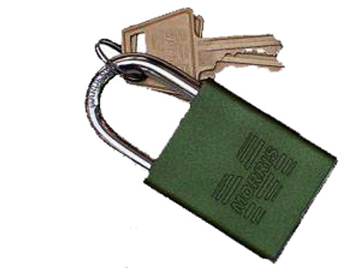 Padlocks Green Keyed Different Accepts Master Key