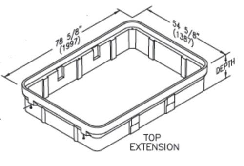 Quazite 36 x 60 x 12 Extension