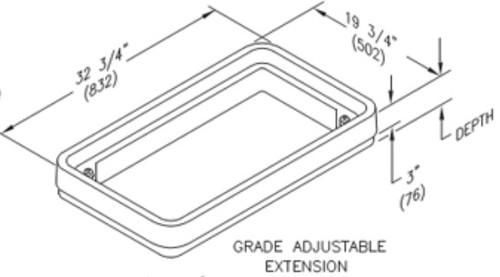 Quazite 17 x 30 x 3 Grade Adjustable Top Extension