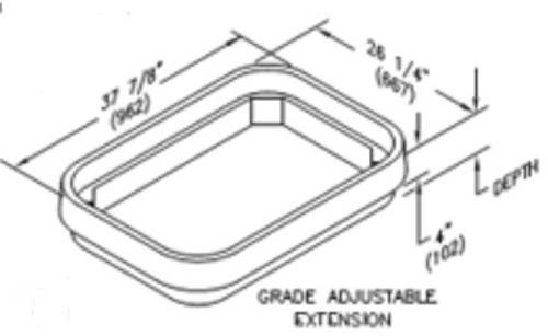 Quazite 24 x 36 x 4 Grade Adjustable Top Extension