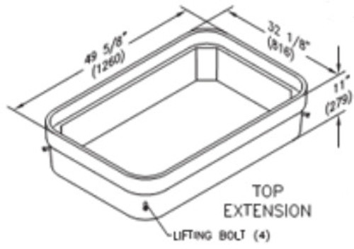 Quazite 30 x 48 x 8 Bottom Extension