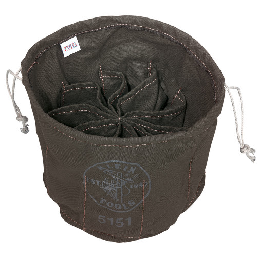Klein 5151 10-Compartment Drawstring Bag