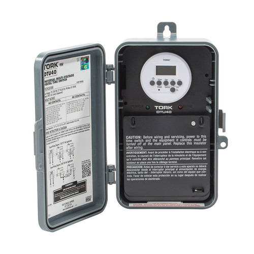 Tork TU40 24 Hour Universal Multi-Voltage Time Switch