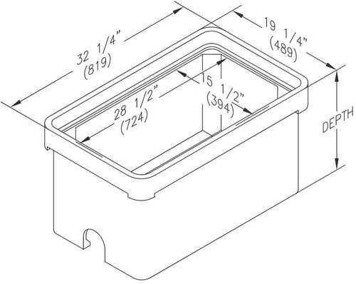 Quazite 17 x 30 x 8 Bottom Extension