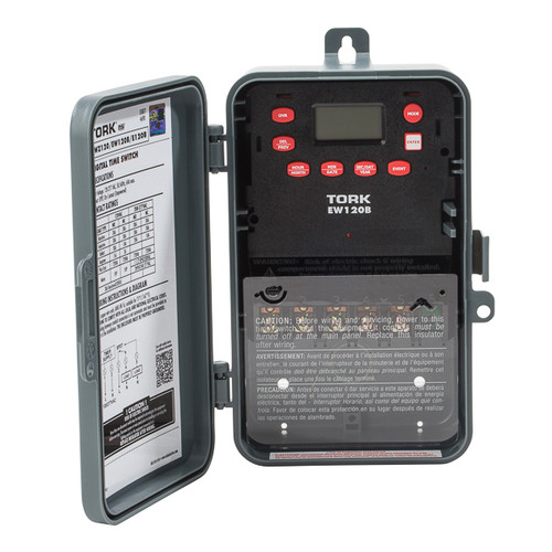 Tork EWZ120 Astro Digital Timer 1CH 30A 120-277V SPDT