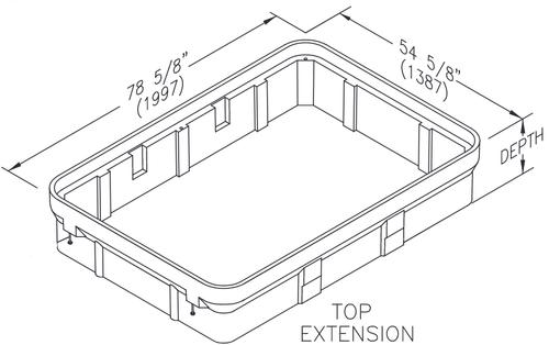 Quazite 48 X 72 X 12 Extension