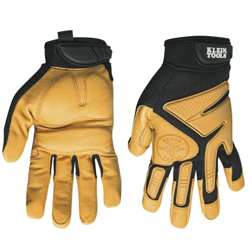 Klein 40222 Journeyman Leather Gloves, X-Large