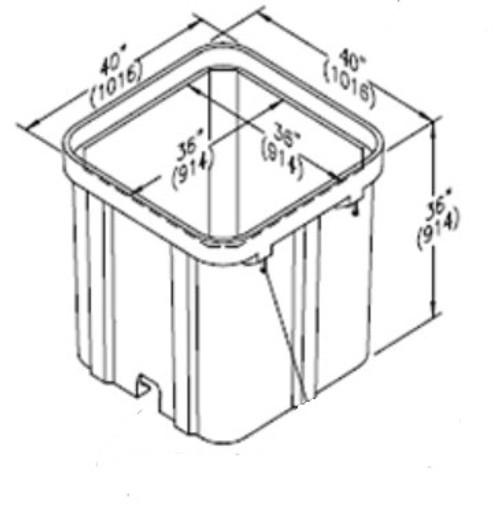 PG3636BA36 Quazite Box 36 x 36 X 36 - ANSI Tier 22