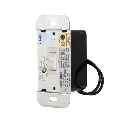 Tork SS20 In-Wall Solid State Timer Single Pole