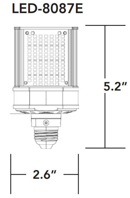 LED-8087E 30W, Shoebox/Wall Pack LED Retrofit