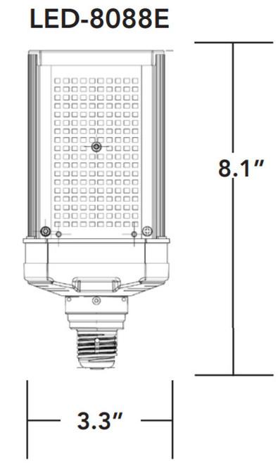 LED-8088E 50W, E26 Shoebox/Wall Pack LED Retrofit