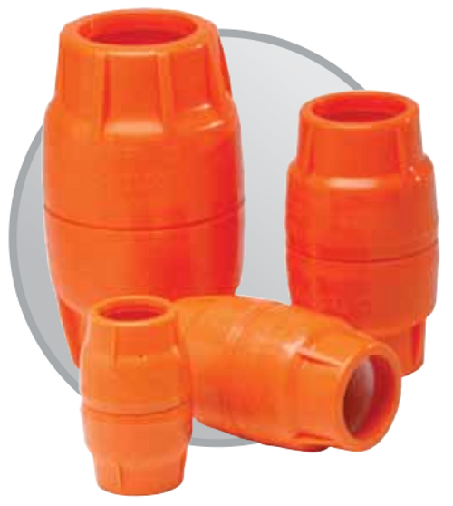 "1 1/4"" Push-Lock HDPE Coupling"