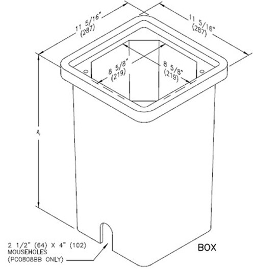 Quazite Box 8 X 8