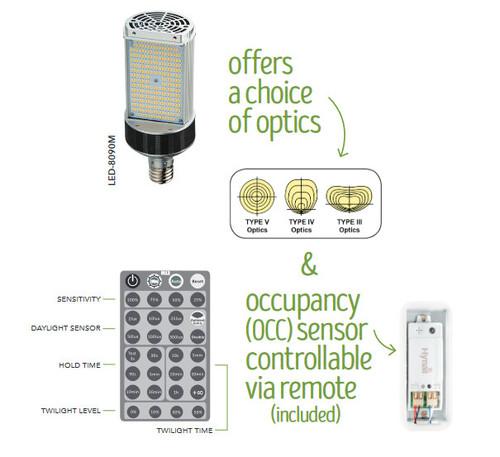 LED-8090M-A 110W, Outdoor/E39 Shoebox/Wall Pack LED Retrofit