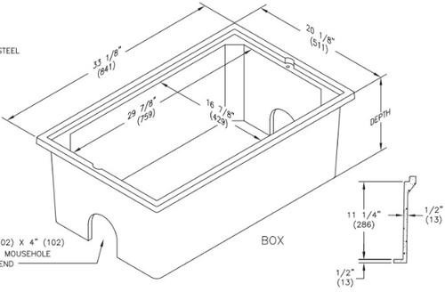 PC1730BA12 Quazite Box 17 x 30 X 12 - ANSI Tier 5