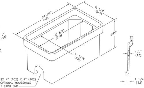 PG1120BA Quazite Box 11 X 20 - ANSI Tier 22