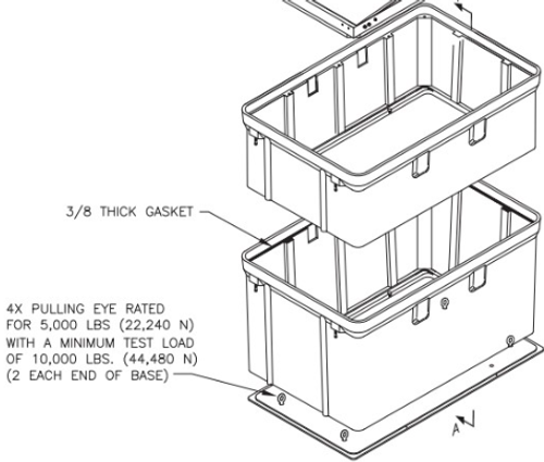 PG4878BA Quazite Box 48 X 78 - ANSI Tier 22