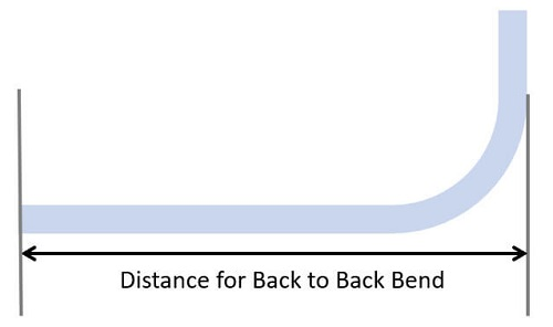 distance from first bend