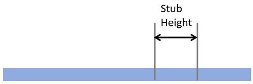 conduit stub height mark
