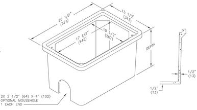 PC1118BA-CA Quazite Box 11 X 18