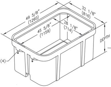 PG3048BA Quazite Box 30 X 48