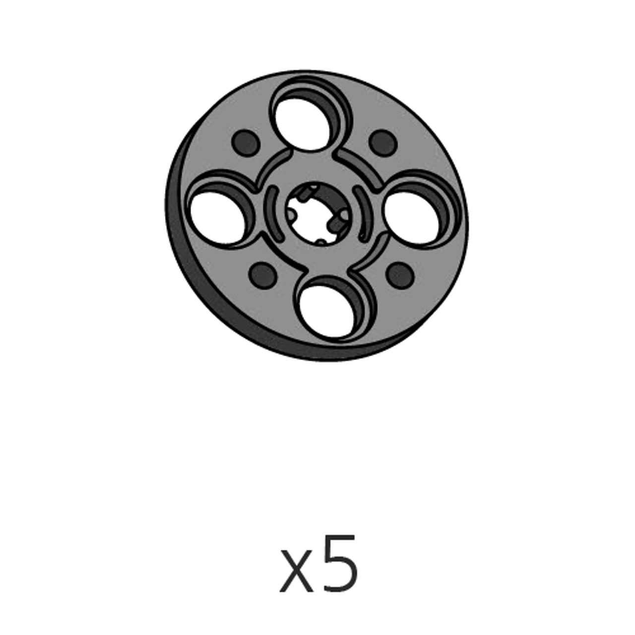 Horn-Cross (SPO-4HC(K)) black 5pcs