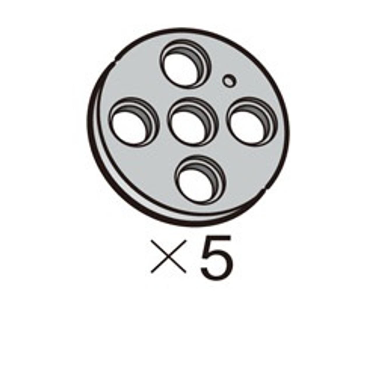 Pulley-Circle-L (SPO-4PR(GR)) 5pcs