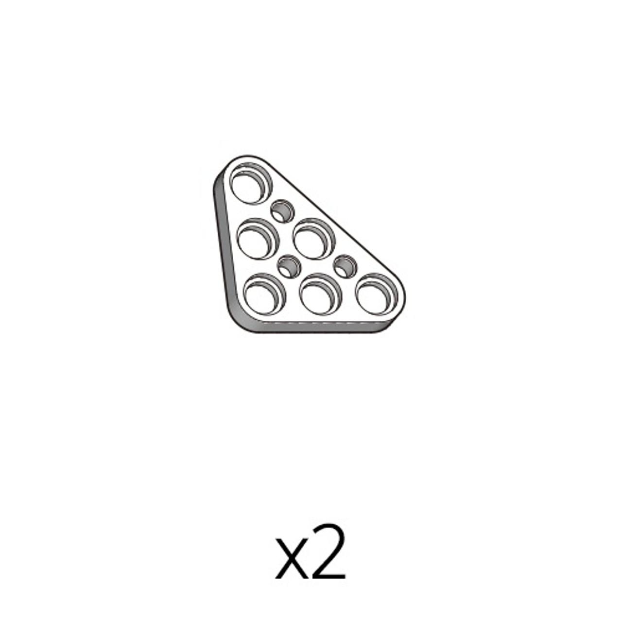Plate-Triangle (PA-3b3(w)) 2pcs
