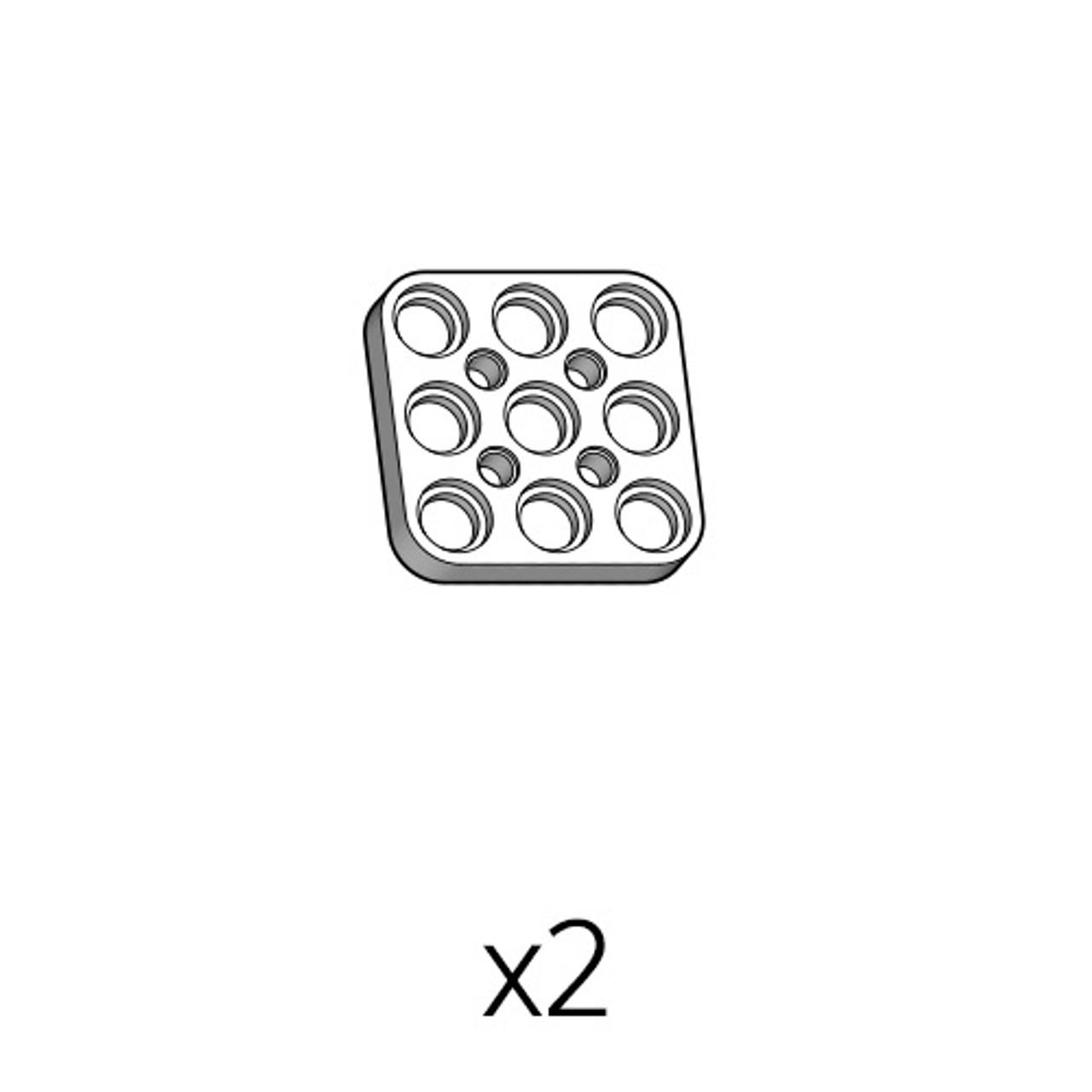 Plate (PD-3b3(w)) 2pcs
