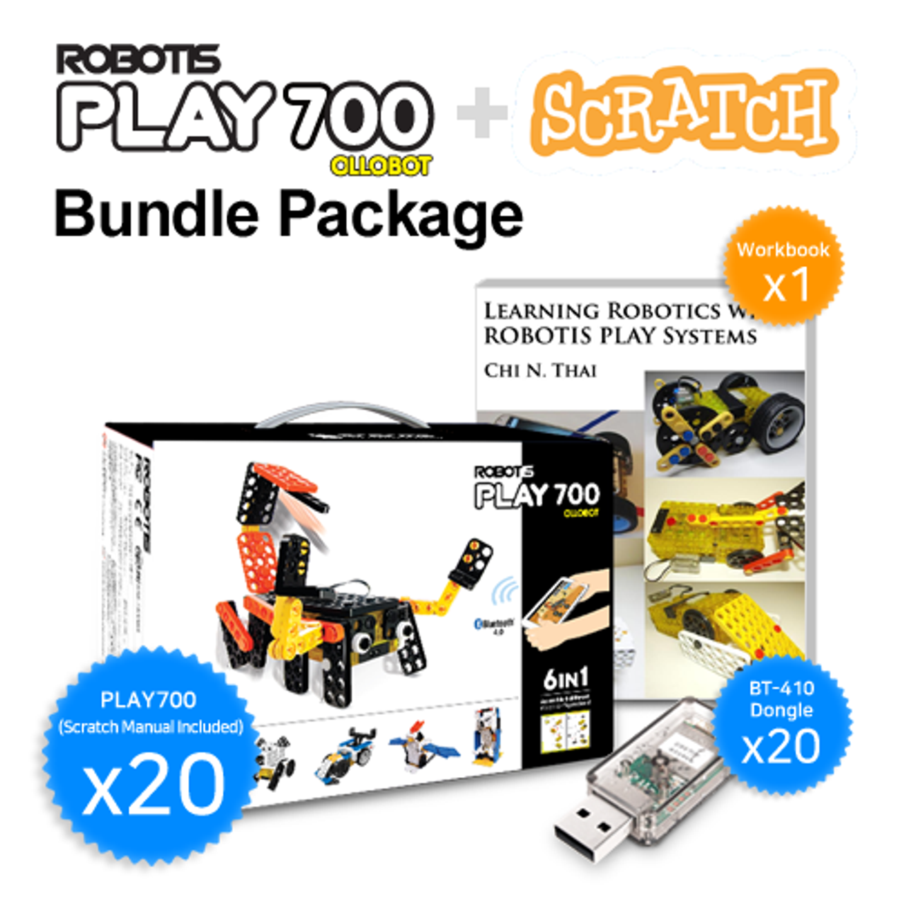 ROBOTIS PLAY 700 SCRATCH Bundle Package