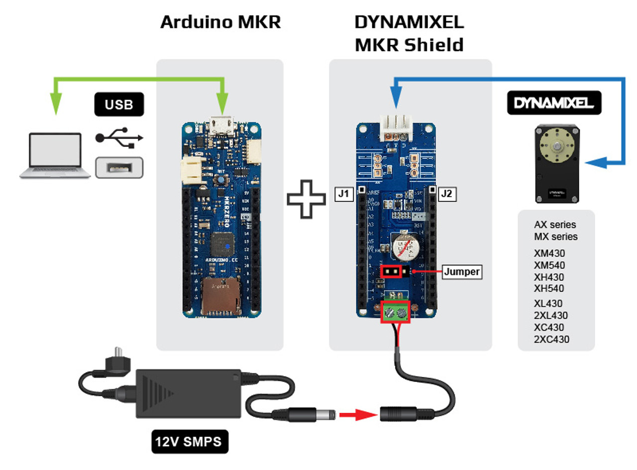 DYNAMIXEL Shield for Arduino MKR Series